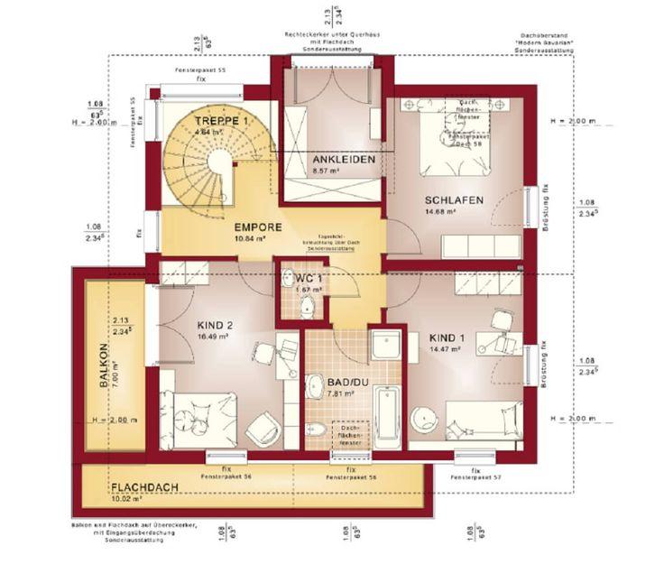 Grundriss haus modern mit erker  15 besten häuser Bilder auf Pinterest | Grundrisse, Architektur ...