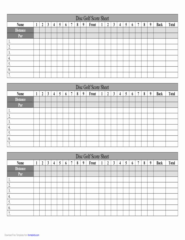Golf Scorecard Template Best Of Disc Golf Score Sheet Free Download Golf Scorecard Golf Score Disc Golf
