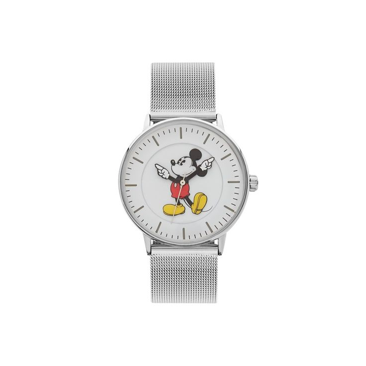 The Original Mickey Collection Watch - Silver Mesh 36mm