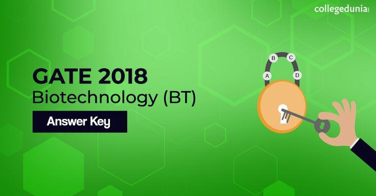 Gate Biotechnology 2018 Answer Key