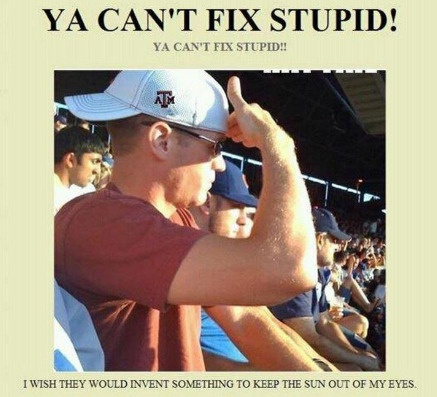 You really can't fix stupid!