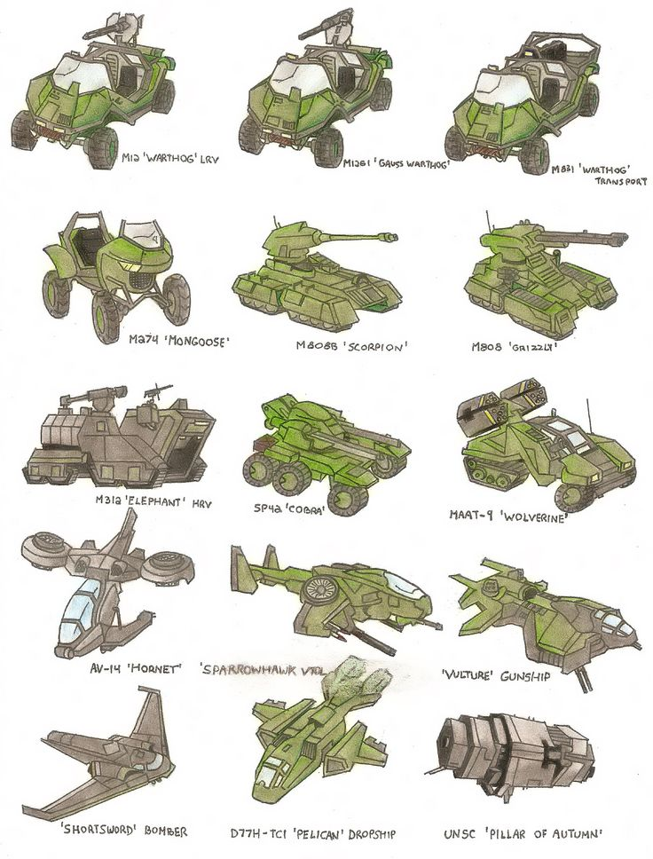 halo unsc vehicles list - Google Search