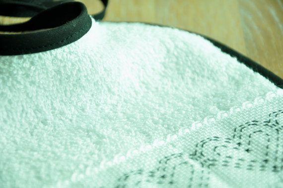 bib in supersoft cotton terry cloth lined by manufattofattoamano, $9.00
