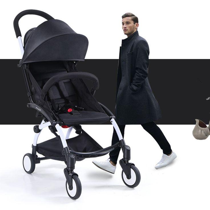 Russia free shippingDISCOUNT Cool black fashion dad portable Baby Stroller 3 in 1 foldable mini size Light pram pliante stroller