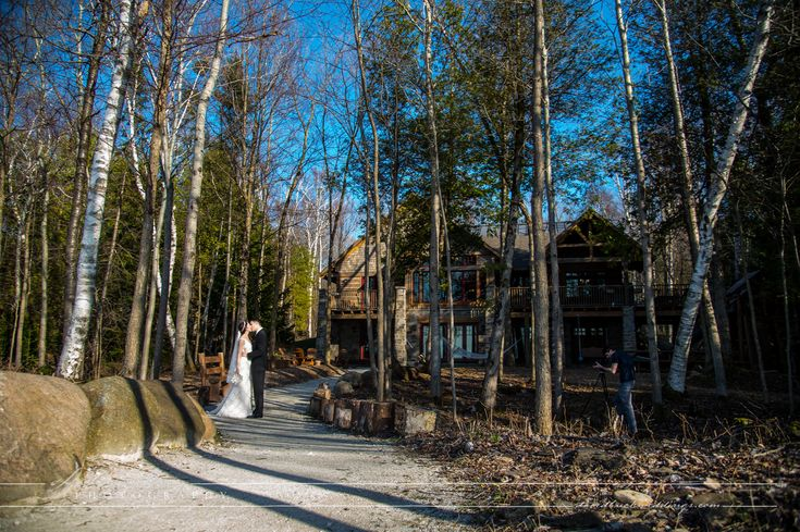 Serenity cottage is a beautiful location for Wedding Formals on Owen Sound shores