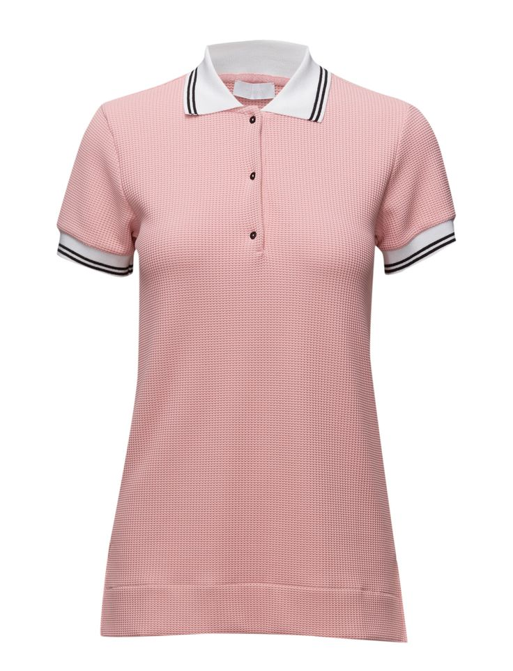 DAY - 2ND Polaris Waffle textured weave Polo collar and button placket Ribbed collar and cuffs Excellent quality and fit Functional Modern Practical Polo Golfer Golf Shirt