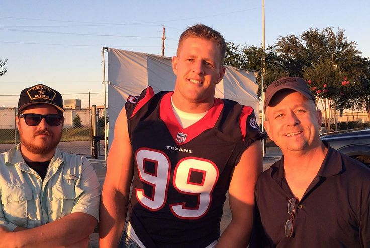 Ferrick and Scott had a great day out on set with JJ Watt last week for a Ford commercial. — with JJ Watt.