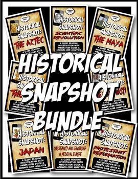 Introductory Price!!! Buy in bulk and save over 26 dollars! This includes eleven fantastic, concise two page close readings with interesting visuals and key concepts for social science clearly stated. The close readings have wide margins for annotation.