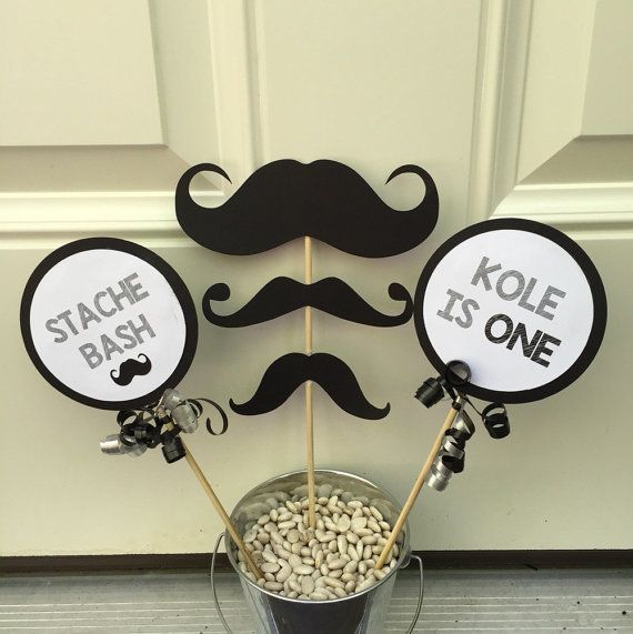 Hey, I found this really awesome Etsy listing at https://www.etsy.com/listing/231285584/mustache-birthday-party-table-decoration