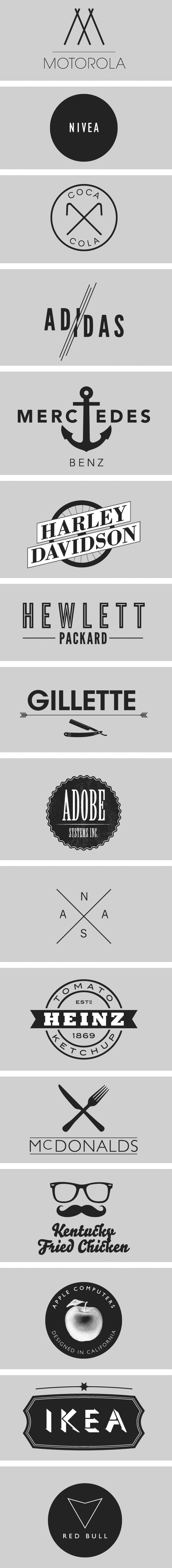 Logos, the hipster's way -- I really liked a lot of these actually, GAH! OH NO!! ;-)
