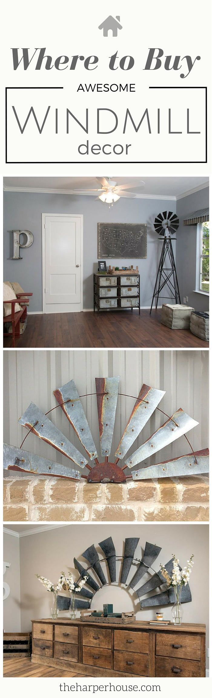 This is awesome! I've always wondered where to buy Fixer Upper windmill decor just like Joanna Gaines uses in her designs! http://www.theharperhouse.com