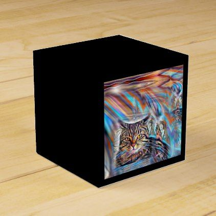 Adrift in Colors Tropical Sunset Cat Favor Box - craft supplies diy custom design supply special