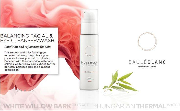 SB Balancing Facial Wash. Removes make-up, deep cleans your pores and tones your skin. SHOP ONLINE: https://sauleblanc.com/balancing-facial-and-eye-cleanser-wash