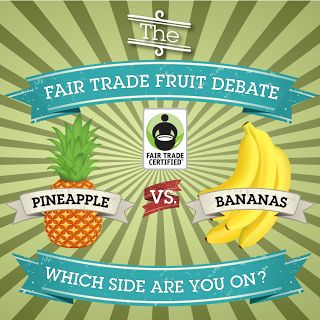 What's your favorite summer fruit: #bananas or #pineapples? Leave a comment below letting us know! #FairTrade