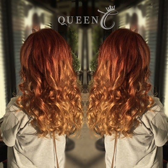"""The perfect color for red heads! Queen C Hair Extensions in Copper Red/Dirty Blonde. Available in 18""""-140 grams) is a perfect color for those of you who are red and want Balayage without the damage!"""