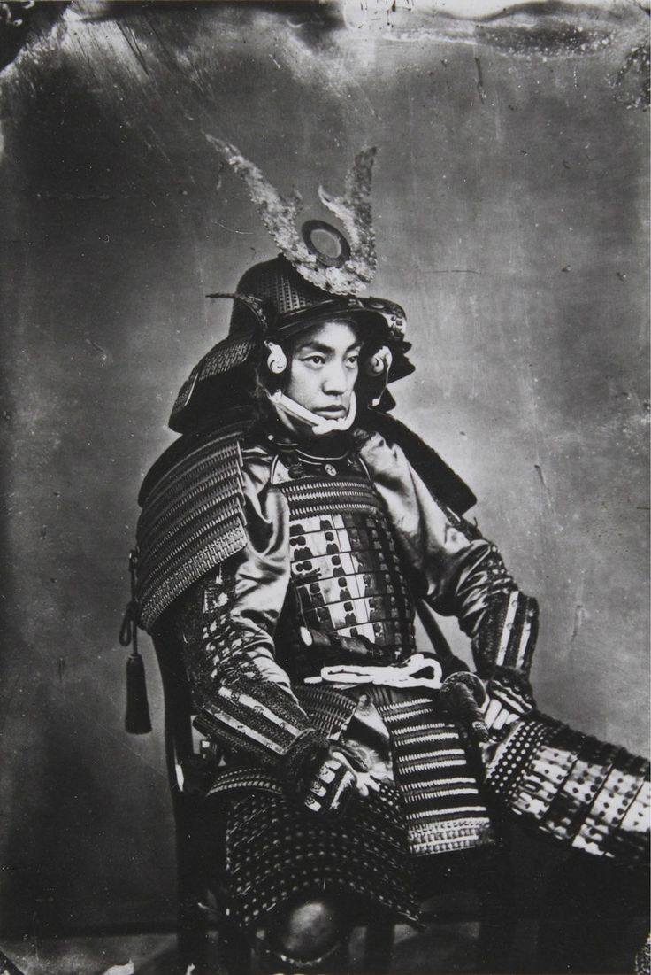 These are extremely rare photos of the Samurai at the twilight of their era between 1863 and 1900. Samurai were outlawed and dissolved in 1868, marking the end of feudalism in Japan and the beginning of the modern era.