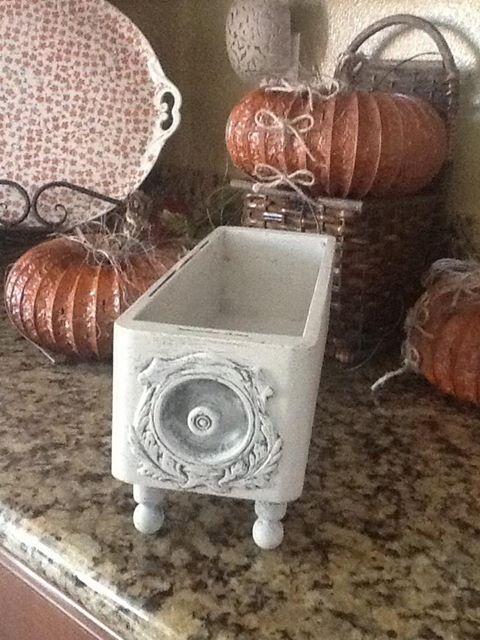 Repurposed drawer from 1907 Singer trestle machine cabinet. https://www.etsy.com/listing/166150023/vintage-sewing-machine-drawer?