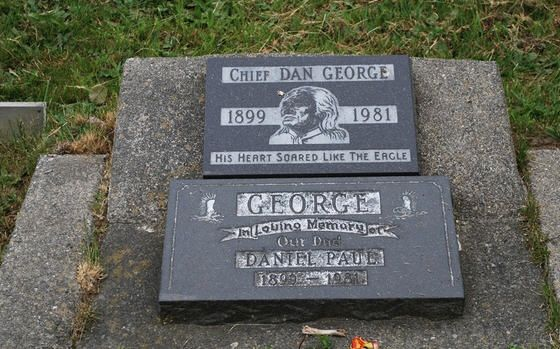 Final Resting Place of Chief Dan George...By Artist Unknown...