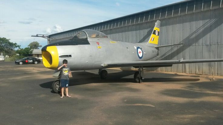CAC Sabre at Narromine. Formerly a lawn orniment at RAAF Dubbo