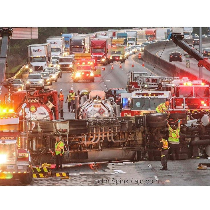 FEATURED POST   @jspink1 -  Authorities had environmental concerns after a tanker truck carrying 7500 gallons of fuel overturned Tuesday April 11 2017 on I-285 in Atlanta. The single-vehicle accident which occurred on the west side of the interstate about 3:30 a.m. shut down eastbound and westbound lanes for hours. The east side of the interstate reopened just after 7 a.m. according to the WSB 24-hour Traffic Center. Westbound lanes reopened just before 8:50 a.m. While officials have not…