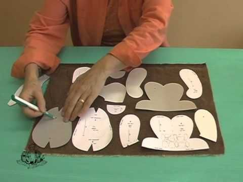 How to Make a Teddy Bear - #3 Template Transfer and Cutting Fabric - YouTube