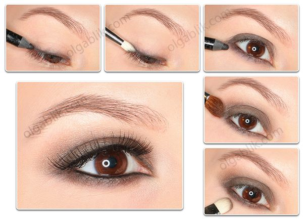 Tutorial for this soft brown/taupe smokey eye.