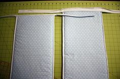 """This tutorial teaches how to make a 10"""" tall reversible crib bumper with binding on all 4 edges."""