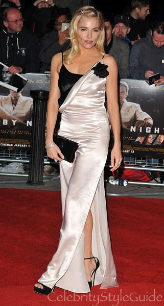 Sienna Miller Cheeky Nod To A Potential Red Carpet Nightmare