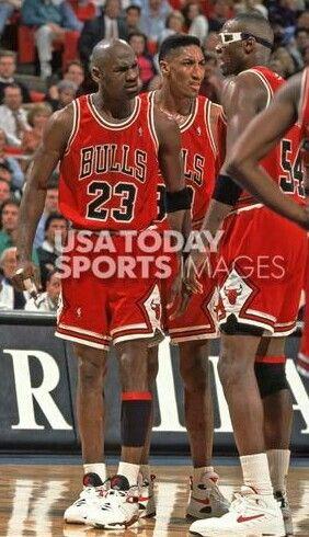 Michael Jordan, Scottie Pippen and Horace Grant