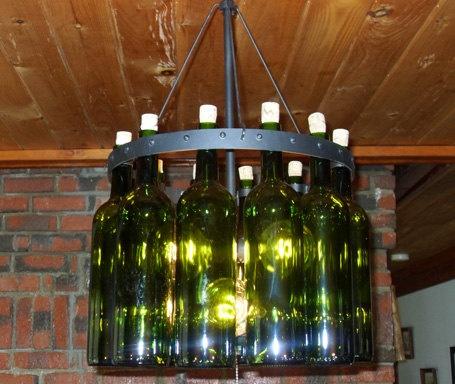 10 best wine bottle chandelier diy images on pinterest chandeliers recycled wine bottle chandelier aloadofball Gallery