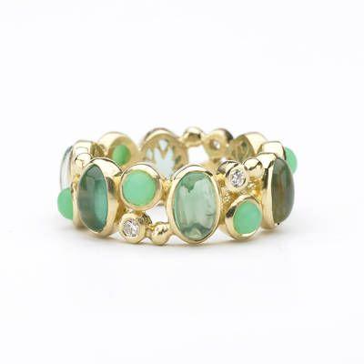 eternity ring with emerald quartz, chrysophrase and diamondsElizabeth Shower, Wedding Ring, Rings Pretty, Wedding Band, Eternity Rings, Band Gorgeous, Emeralds Rings, Style Blog, Gold Bangles