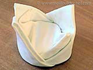 Pliage des serviettes (mandarin)
