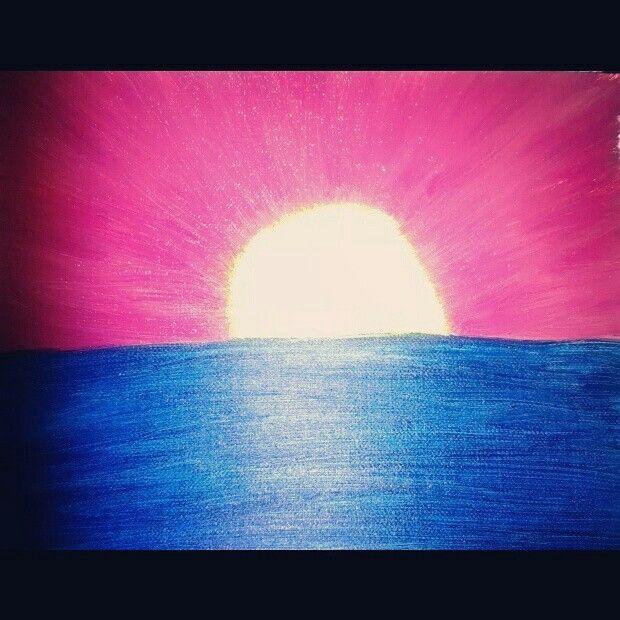 I painted a sun set  #oilpant