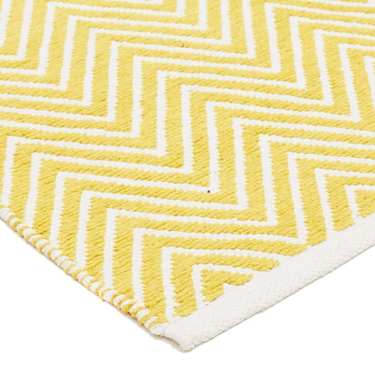 Sophia Chevron Cotton Chenille Rug   Yellow   Sizes Available by Spectrum Rugs on THEHOME.COM.AU
