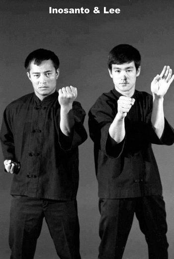 Bruce Lee and training partner Dan Inosanto