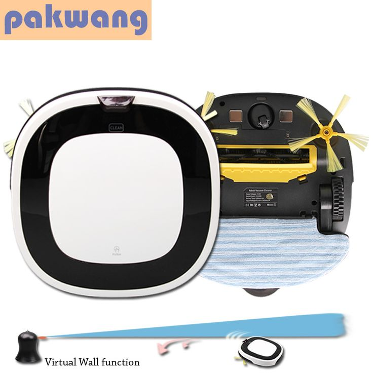 Pakwang cordless vacuum cleaner dry and wet vacuum cleaners white D5501 mopping robot mini vacuum cleaner