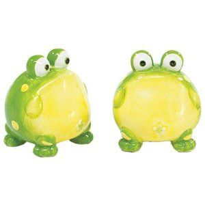 Cute Frog Salt And Pepper Shakers For Kitchen Decor
