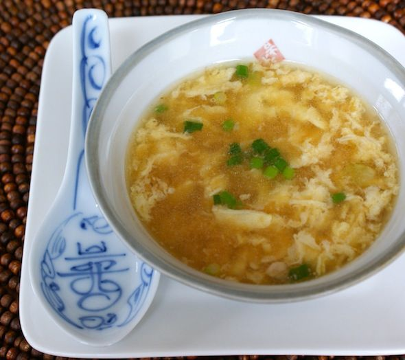 Egg Drop Soup--I love this stuff! This recipe is for a smaller amount, which works well for me. The only thing I might do differently is add a touch of sesame oil.