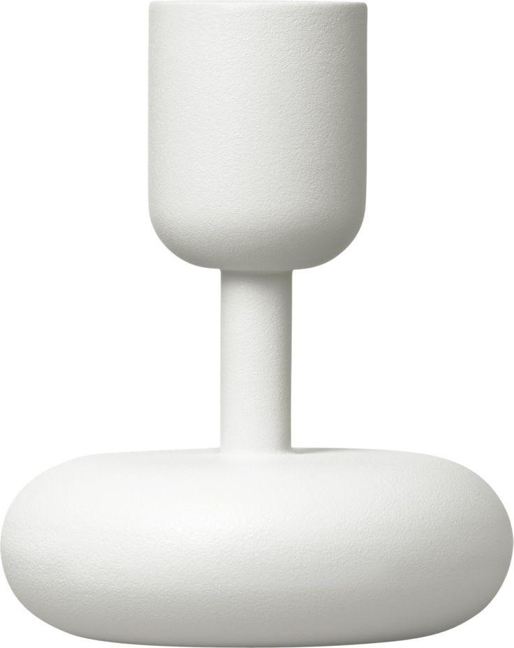 Iittala - Nappula Candleholder 107 mm white - Iittala.com