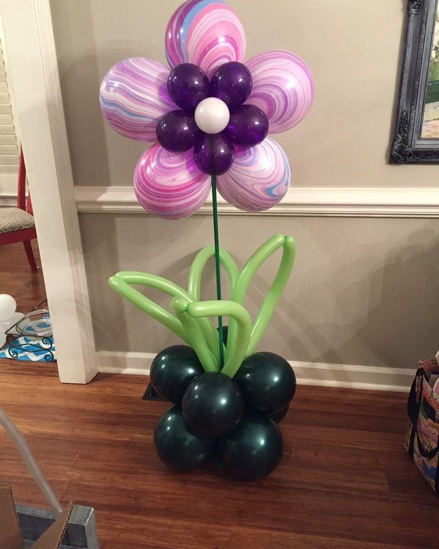 Floor standing balloon flower bouquet no helium needed balloon flowers pinterest balloon