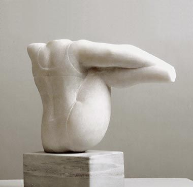 Can can dancer III 2003, marmo rosa Portogallo, Caroline Van Der Merwe http://musapietrasanta.it/content.php?menu=artisti