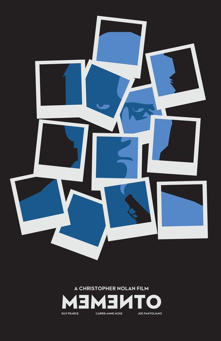 Memento by Matt Pichette: Photo Collage, Poster Frame-Black, Graphics Design, Memento, Minimalist Poster, Memories, Film Poster, Minimal Movies Poster, Minimalist Movies Poster