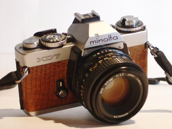 Custom Minolta XD-7 35mm SLR 1977 camera