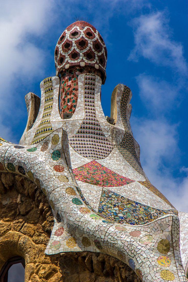 Gaudi's Park Güell Entrance Confection Barcelona, Catalonia
