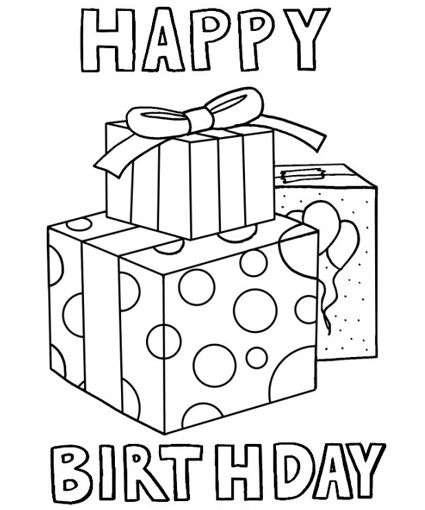 free 1st birthday coloring pages - photo#34