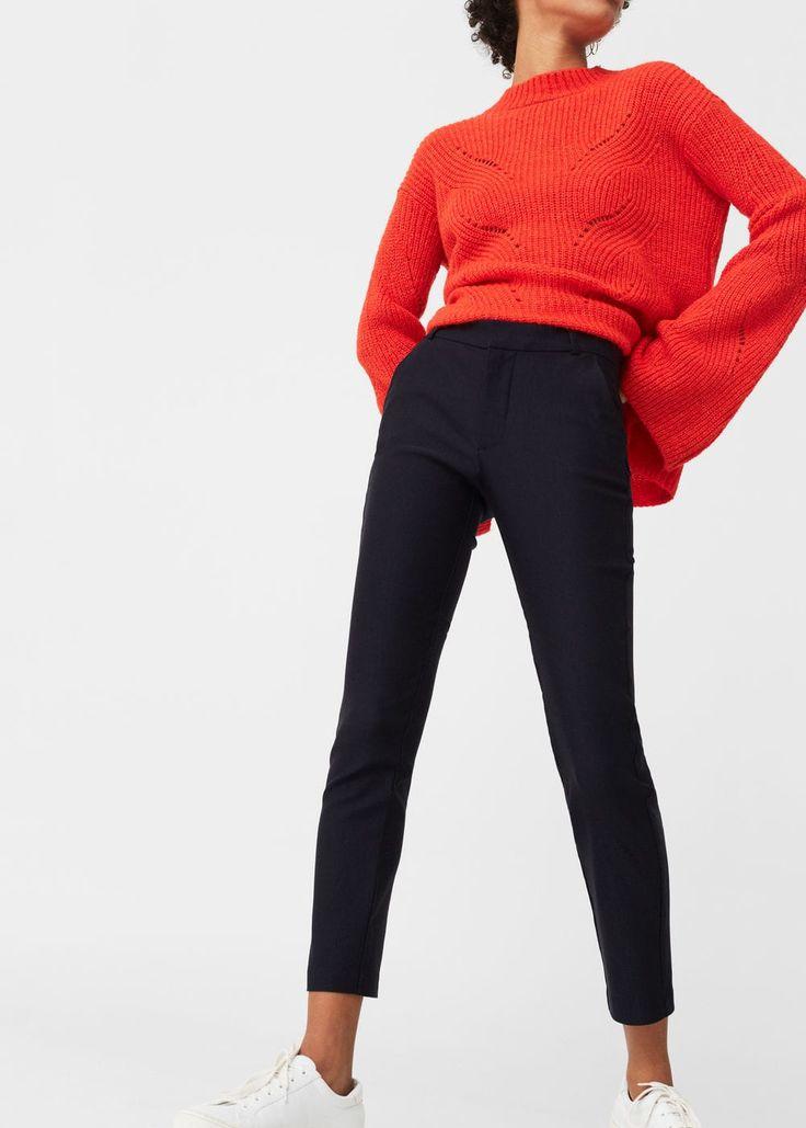 Pantalon cigarette crop -  Femme | MANGO France