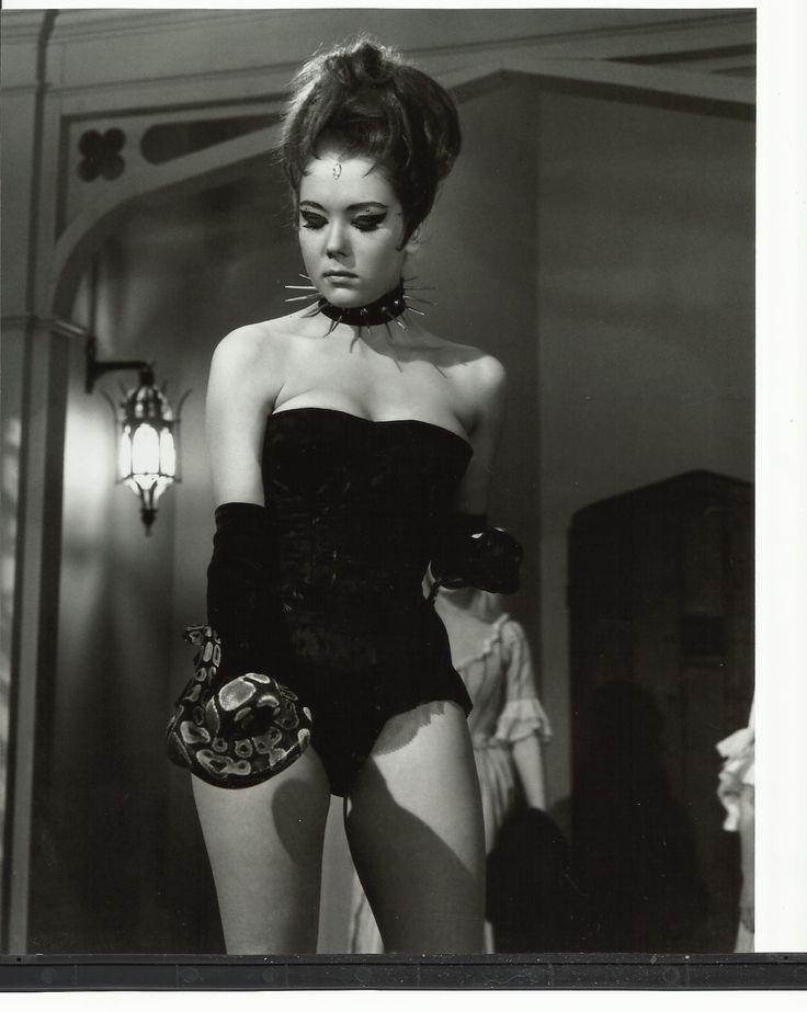 Emma Peel Avengers   The Avengers Diana Rigg as Emma Peel in Hellfire Club with Snake 8 x ...