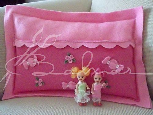 Polardan  cepli bebekli yastık  Baharca tasarım  handmade
