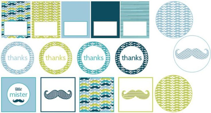 Paper & Party Supplies  Party Supplies  Party Décor  Banners & Signs  Birthday Decorations  pdf birthday decor Baby boy party decor  baby shower decor  cupcake topper  Mustache favor tag  mustache garland  Printable garland Mustache food labels  birthday party  baby shower banner  little gentleman  baby boy party