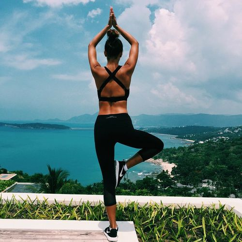 fitness, yoga, and summer
